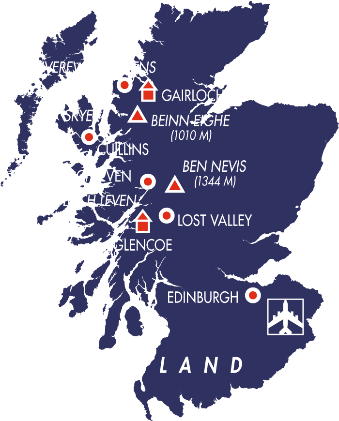 karte schottland highlights der highlands